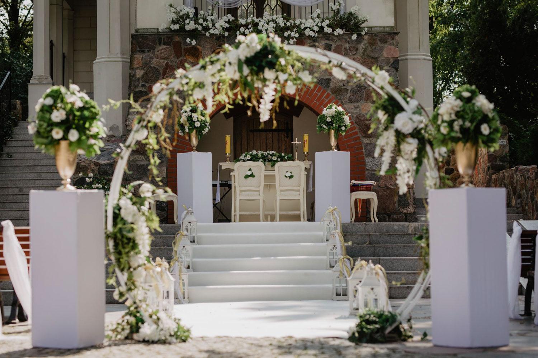 przygotowania ślubne w Pałacu Romantycznym