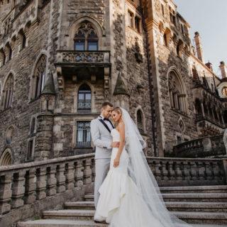 fotografia ślubna - Zamek w Mosznej