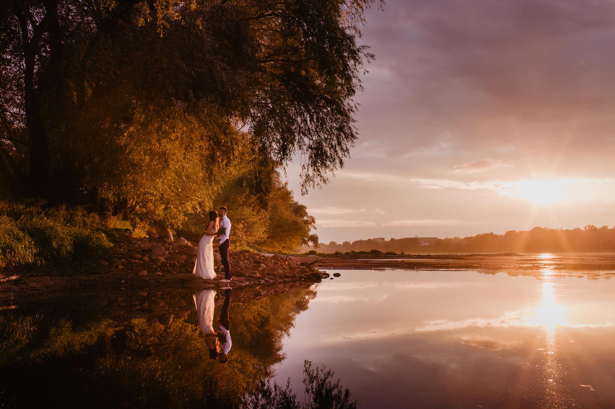 Sesja ślubna nad Wisłą | Marta i Bartek