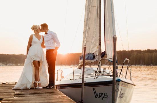 Sesja ślubna na jachcie | Ania i Czarek