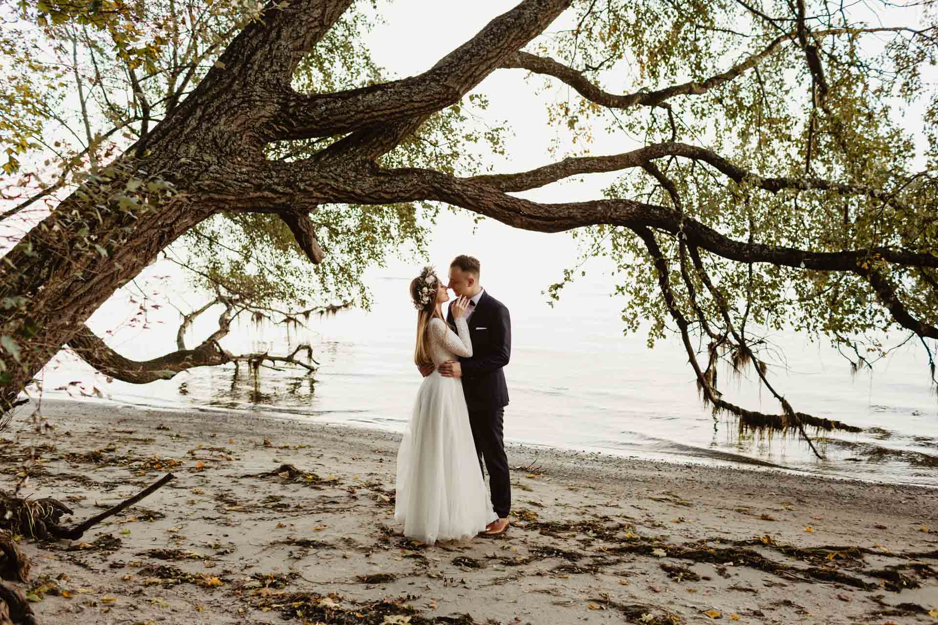 Sesja ślubna w Zamku w Rzucewie nad morzem | Patrycja i Ariel